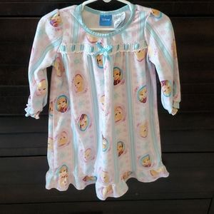 White/blue striped Frozen long sleeve nightgown